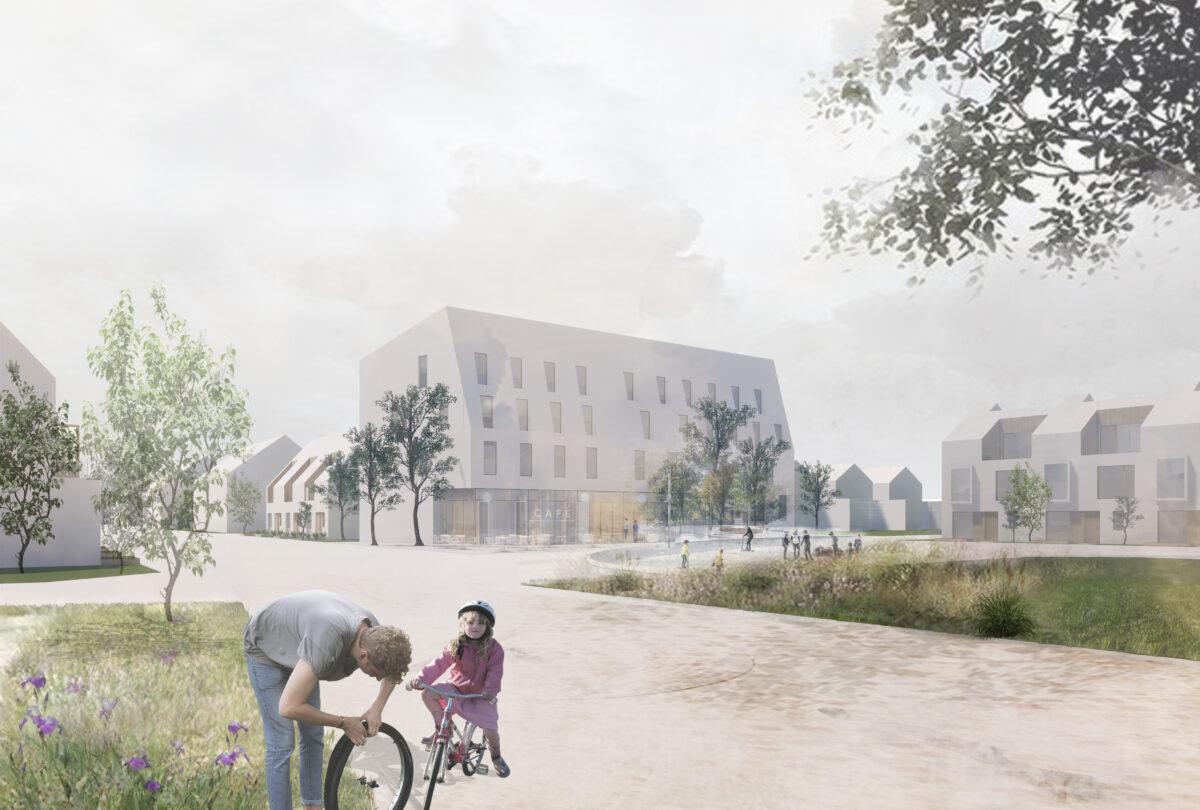 Vikhems torg. 14 radhus och 14 lägenheter i dansk arkitektur.
